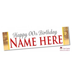 Gold Bubbles Banner - Personalise with your wording and image