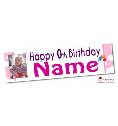 Pink Clouds Banner - Personalise with your wording and image