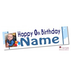 Blue Clouds Banner - Personalise with your wording and image