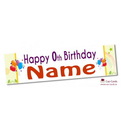 Rainbow Banner - Personalise with your wording and image