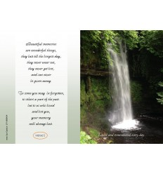 Waterfall Memorial Card