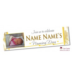 Gold Speckled Banner - Personalise with your wording and image