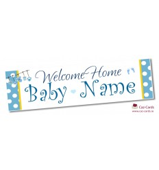 Welcome Baby Boy Personalised Banner