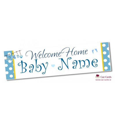 Its A Boy Any Name Banner  set of 3 Personalised new baby banner Make your own