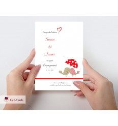 Engagement Love Birds Personalised Card