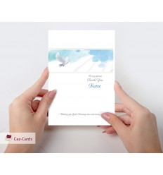 Gods Blessing With Dove Personalised Card