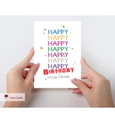 Happy Happy Birthday Personalised Card