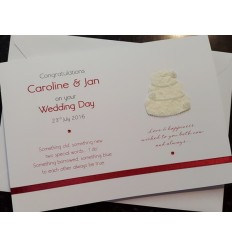 Wedding Personalised card with cake!