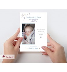 Baby Boy Personalised Photo Card