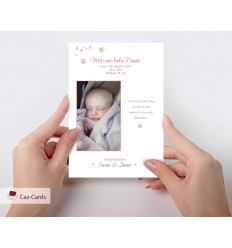 Baby Girl Personalised Photo Card