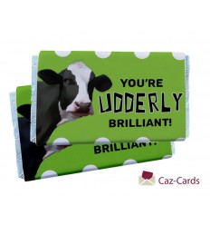 YOU'RE UDDERLY BRILLIANT CHOCOLATE BARS
