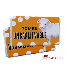 YOU'RE UNBAALIEVABLE CHOCOLATE BARS