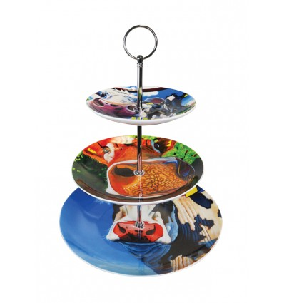 Cake Stand With Cows from Tipperary Crystal
