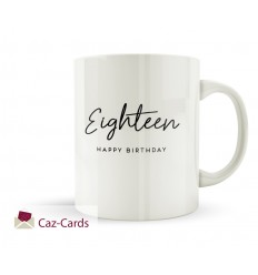 18th Birthday Elegant Design Mug