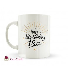 18th Birthday Gold Star Burst Mug