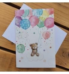 BON VOYAGE CUTE TEDDY BEAR CARD