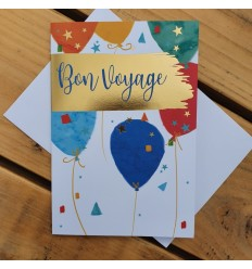 BON VOYAGE CARD WITH BALLOONS