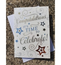 CONGRATULATIONS Gold Stars Greeting Card
