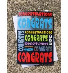CONGRATULATIONS Multicolour Foil Design Greeting Card