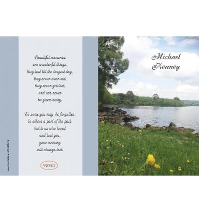 Waterfall Memorial Card