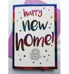 NEW HOME multicolour foil design card