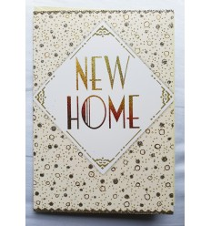 NEW HOME Gold And Glitter Card