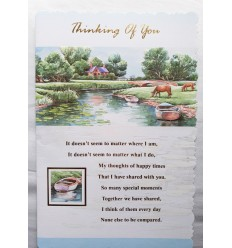 THINKING OF YOU Country Scene Card