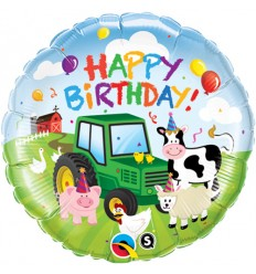 BIRTHDAY BARNYARD FOIL BALLOON 18 INCH