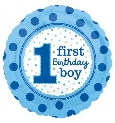 1ST BIRTHDAY BOY BLUE FOIL BALLOON 18 INCH