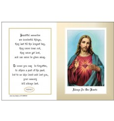 Sacred Heart Memorial Card