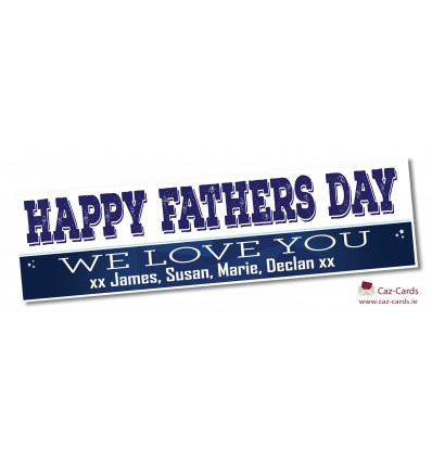 FATHERS DAY Blue Banner With Names