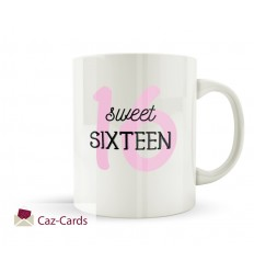 16th Birthday Mug - SWEET SIXTEEN