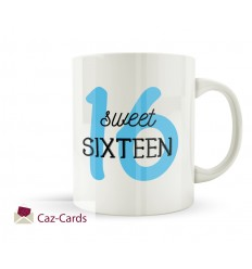 16th Birthday Mug - SWEET SIXTEEN BLUE