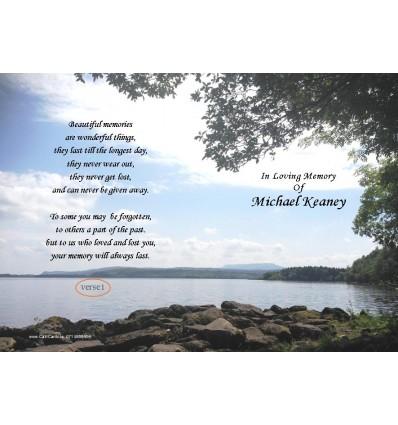 Shoreline Stones Memorial Card