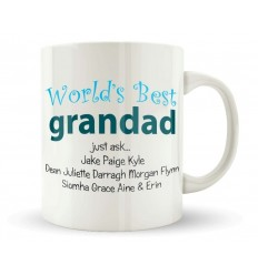 Grandad Personalised Mug with names