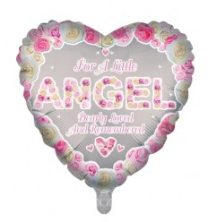 IN MEMORY OF AN ANGEL PINK BALLOON 18 INCH