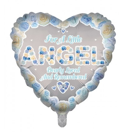 IN MEMORY OF AN ANGEL - BLUE BALLOON 18 INCH