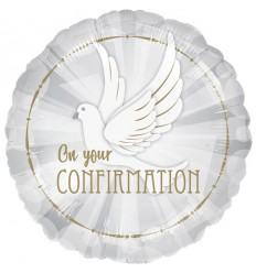 CONFIRMATION GOLD FOIL BALLOON 18 INCH