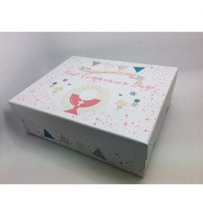First Holy Communion Keepsake Box pink
