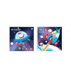 20pk of Cute Kids Christmas Cards SANTA