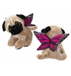 Butterfly Pug Plush 20cm