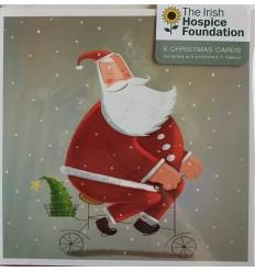 Irish Hospice Foundation - Santa on a bicycle