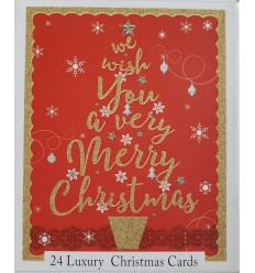 Gold Glitter Christmas cards