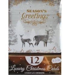 Reindeer gold foil Christmas cards