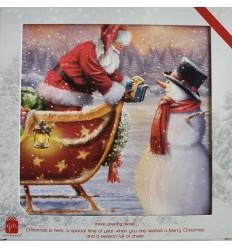 Santa & Snowman Christmas cards
