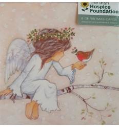 Irish Hospice Foundation - Angel with robin