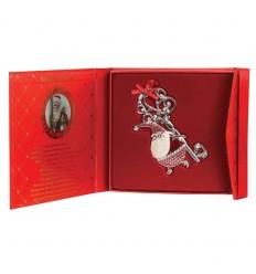 Sparkle Santa Christmas Key  - Tipperary Crystal