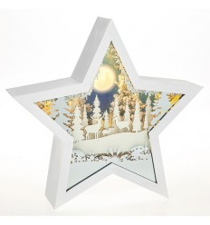Snow Scene Musical Christmas Star