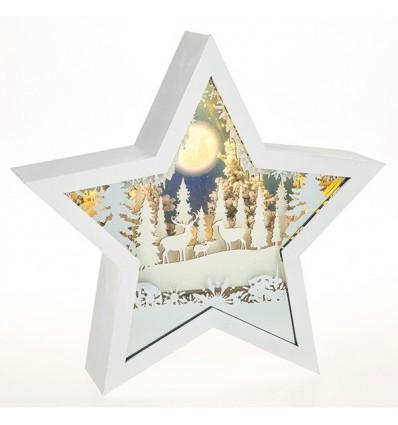 Snow Scene Musical Christmas Star