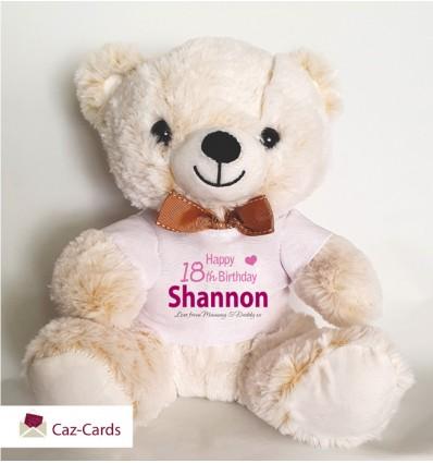 Birthday Girl Teddy Bear Personalised